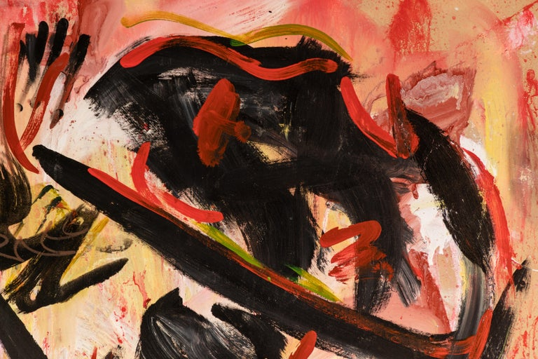 Bold abstract painting signed,