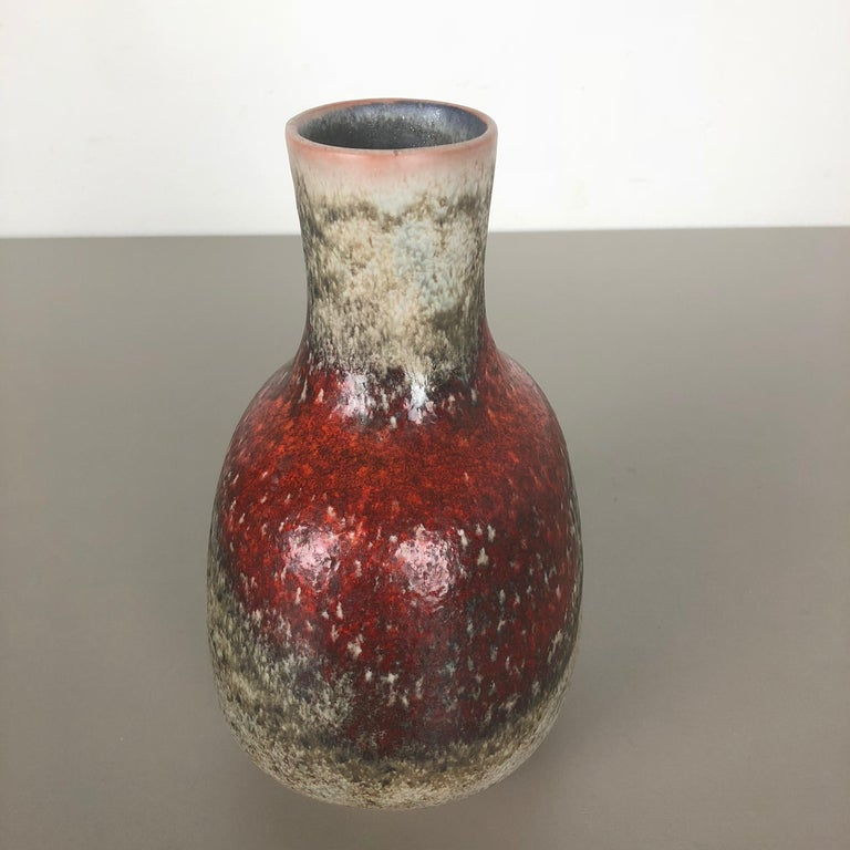 Colorful Abstract Ceramic Pottery Vase by Karlsruher Majolika, Germany, 1950s For Sale 5