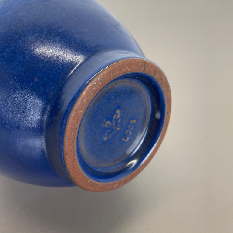 Colorful Abstract Ceramic Pottery Vase by Karlsruher Majolika, Germany, 1950s For Sale 8