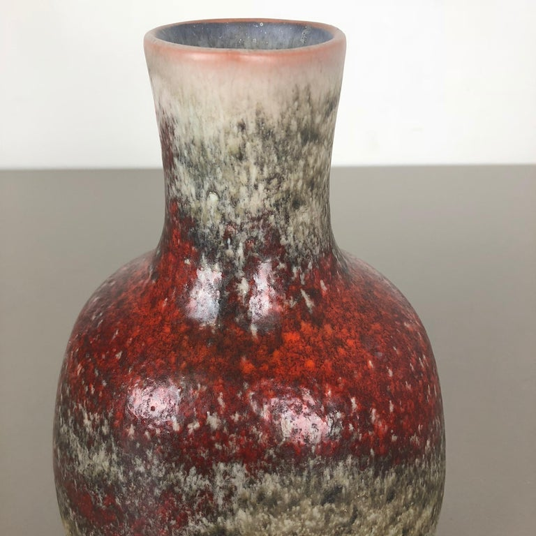 Colorful Abstract Ceramic Pottery Vase by Karlsruher Majolika, Germany, 1950s For Sale 1