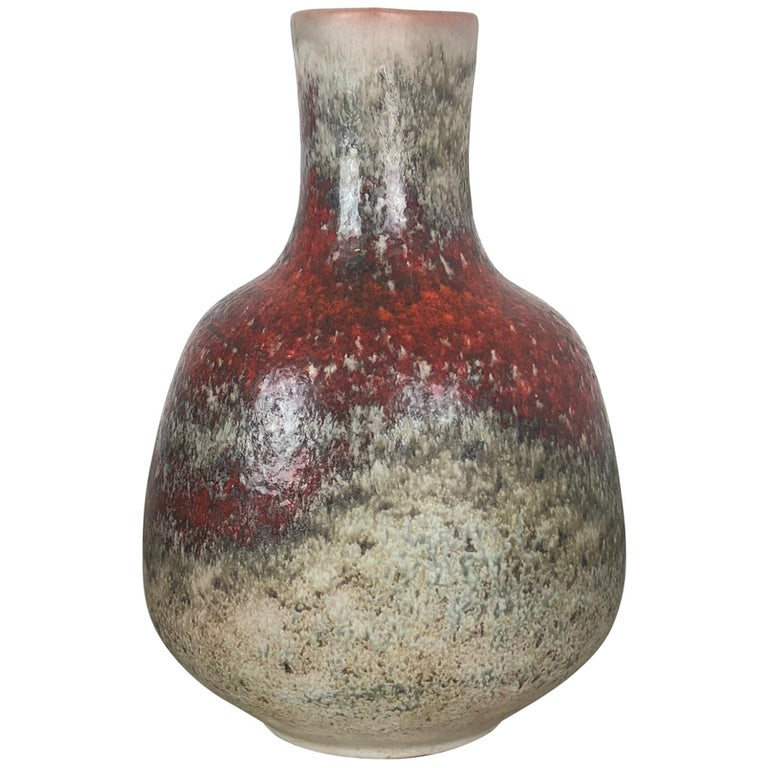 Colorful Abstract Ceramic Pottery Vase by Karlsruher Majolika, Germany, 1950s For Sale