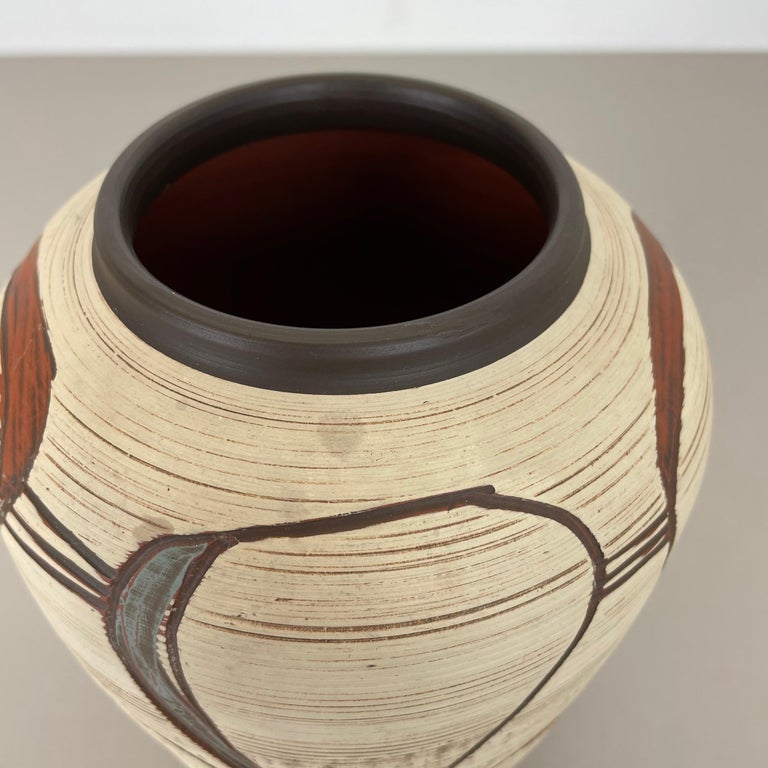 Colorful Abstract Ceramic Pottery Vase by Sawa Franz Schwaderlapp, Germany 1950s For Sale 5