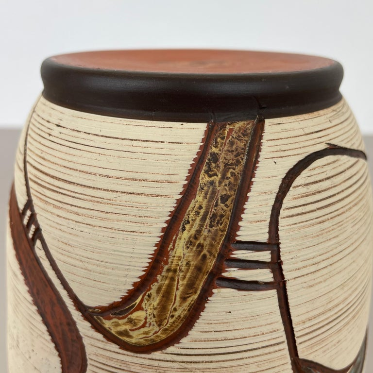 Colorful Abstract Ceramic Pottery Vase by Sawa Franz Schwaderlapp, Germany 1950s For Sale 11