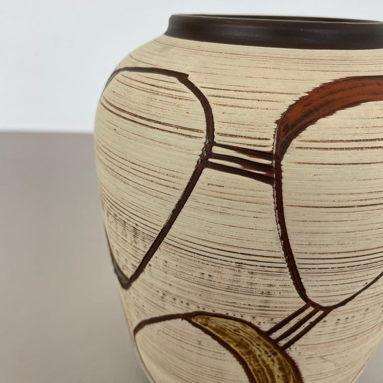 Colorful Abstract Ceramic Pottery Vase by Sawa Franz Schwaderlapp, Germany 1950s For Sale 1