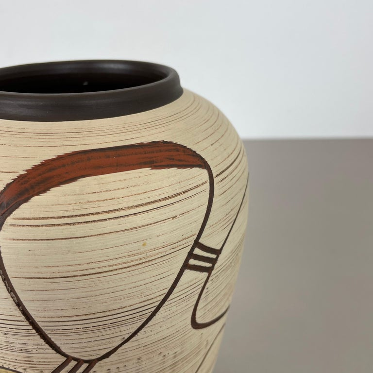 Colorful Abstract Ceramic Pottery Vase by Sawa Franz Schwaderlapp, Germany 1950s For Sale 2
