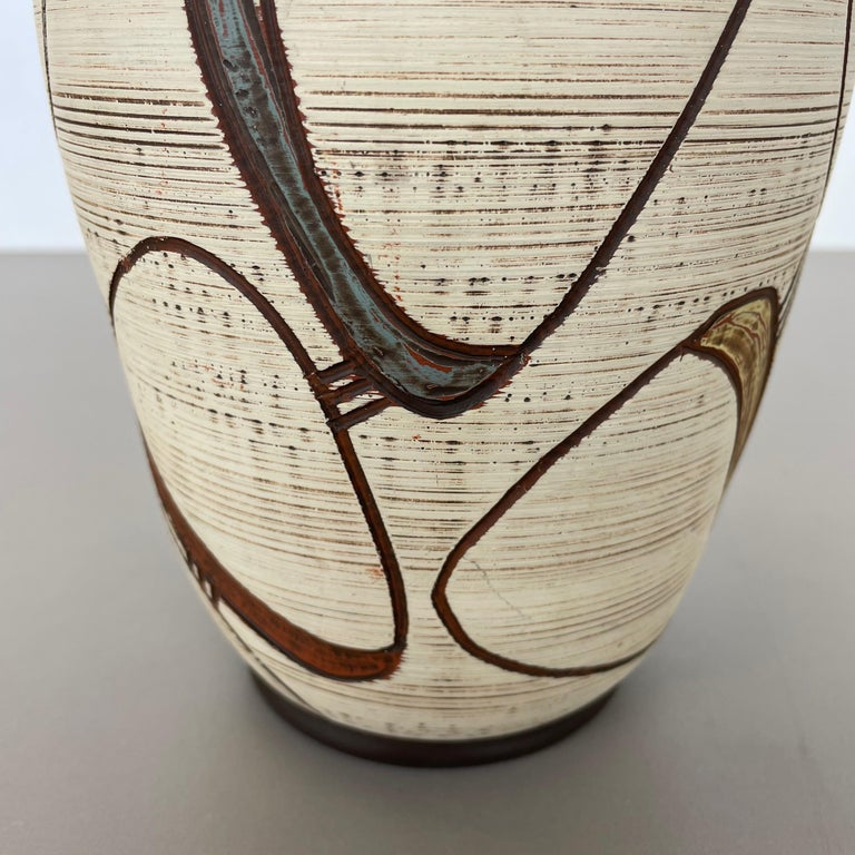 Colorful Abstract Ceramic Pottery Vase by Sawa Franz Schwaderlapp, Germany 1950s For Sale 3