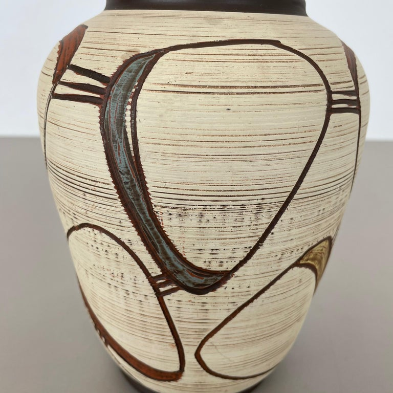 Colorful Abstract Ceramic Pottery Vase by Sawa Franz Schwaderlapp, Germany 1950s For Sale 4