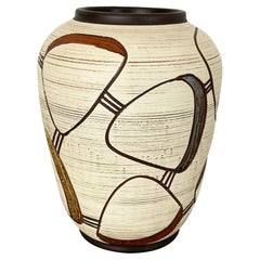 Colorful Abstract Ceramic Pottery Vase by Sawa Franz Schwaderlapp, Germany 1950s