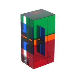 Colorful Acrylic Sculpture by Vasa