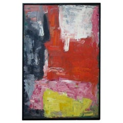 Colorful American Midcentury Abstract Expressionist Painting