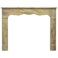 Colorful and Unique French Marble Regence Fireplace Mantel