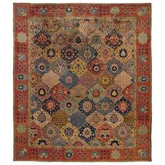 Colorful Antique Indian Carpet