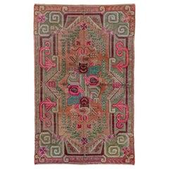 Colorful Antique Khotan Rug, Circa 1930s