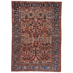 Colorful Antique Mahal Carpet