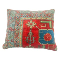 Colorful Antique Rug Pillow