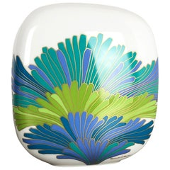 Colorful Art Vase Porcelain Vase by Rosemonde Nairac for Rosenthal Germany 1970s