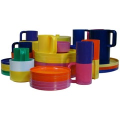 Colorful Assortment of Dinnerware by Massimo Vignelli for Heller Design