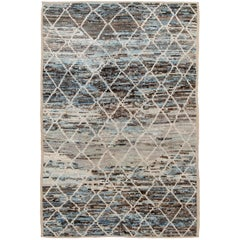 Colorful Berber Modern Moroccan Style Wool Rug