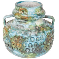 "Colorful Ceramic ""Sea Garden"" Vase by Alvino Bagni for Raymor"