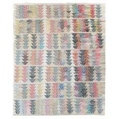 Colorful Contemporary Handmade Turkish Flat-Weave Kilim Room Size Carpet