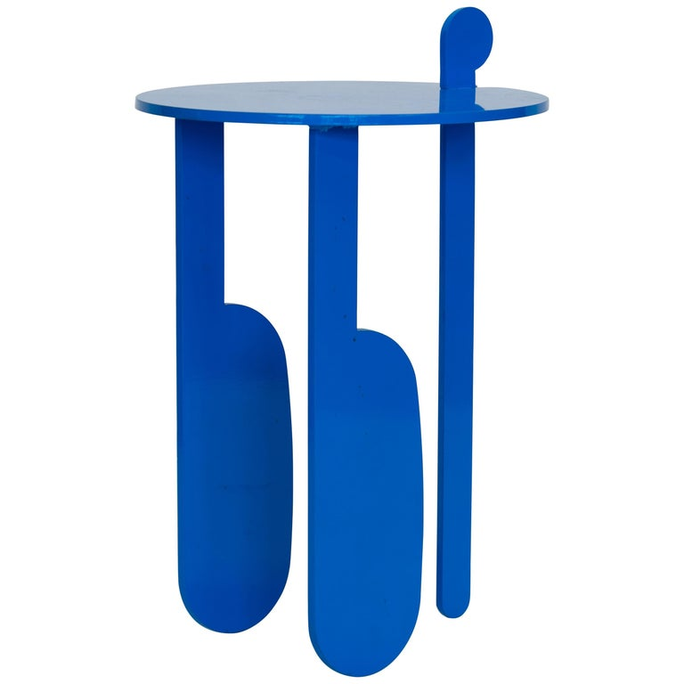 Colorful Contemporary Powder Coated Steel Poodle Side Tables For Sale