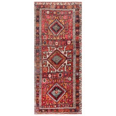 "Eagle Kazak Design Antique Tribal Persian Kurdish Rug. Size: 5' 3"" x 12' 3"""