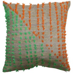 Colorful Flaring Wool Modern Kilim Pillow