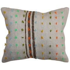 Colorful Flaring Wool Modern Turkish  Kilim Pillow