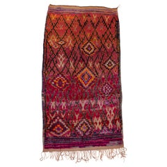 Colorful and Funky Vintage Moroccan Carpet