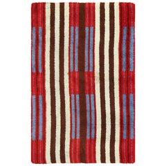 "Colorful Geometric Navajo Design Vintage American Rug. Size: 3' 9"" x 6' 1"""