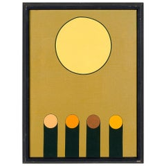 Colorful Geometric Painting on Canvas by Kenneth Licht