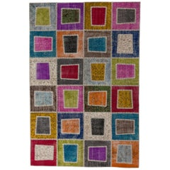 Colorful Geometric Patchwork Rug, Custom Options Available