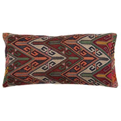 Colorful Geometric Tribal Turkish Embroidered Lumbar Pillow