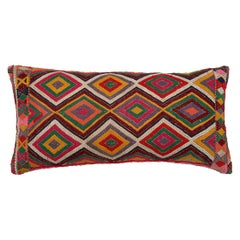Colorful Geometric Tribal Turkish Embroidered  Lumbar Pillow
