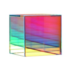 Colorful Glass Cube Table Lamp by Camilla Richter
