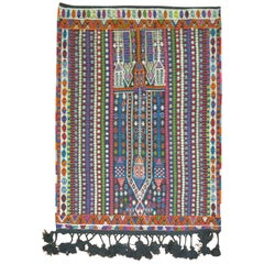 Colorful Jajim Flat-Weave, 20th Century