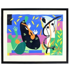 Colorful Large Scale Lithograph by Henri Matisse