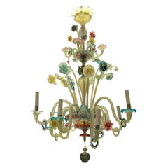 Colorful Late 19th Century Murano Chandelier