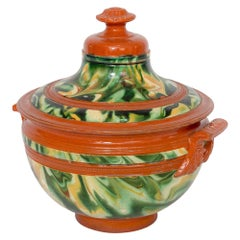 Colorful Marbled French Crockery Tureen