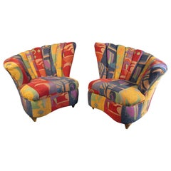 Colorful Mid-Century Modern Designer Club Chairs
