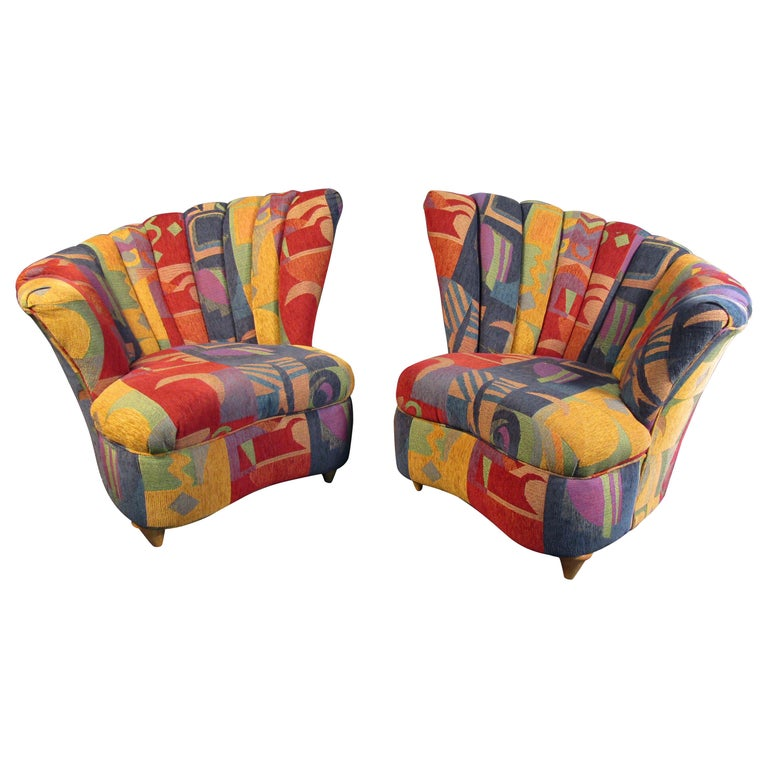 Colorful Mid-Century Modern Designer Club Chairs For Sale
