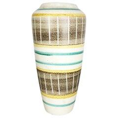 "Colorful Minimalist Pottery ""508 30"" Vase by Bay Ceramics, Germany, 1960s"