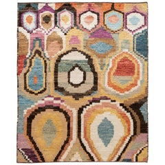 Colorful Modern Moroccan, Style Handmade Wool Rug