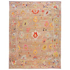 Colorful Modern Turkish Handmade Wool Rug