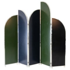 Colorful Modernist Folding Screen by Sandro Petti