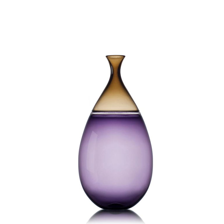 Hand-Crafted Colorful, Modernist Hand Blown Art Glass Statement Vase Collection by Vetro Vero For Sale