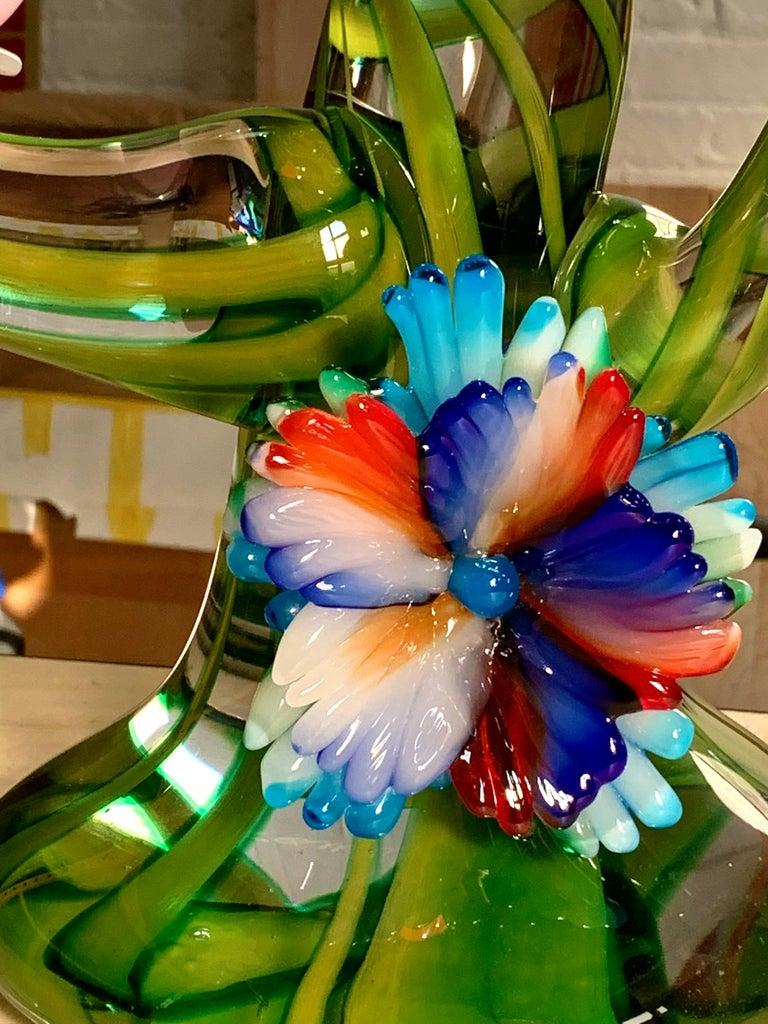 Colorful Murano Glass Birds in a Tree Sculpture, Enrico Cammozzo, Italy, 1970s For Sale 2