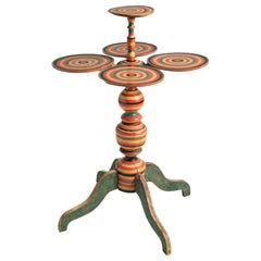 Colorful Occasional Table, Sweden, circa 1900