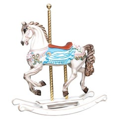 Colorful Painted Carousel Style Rocking Horse