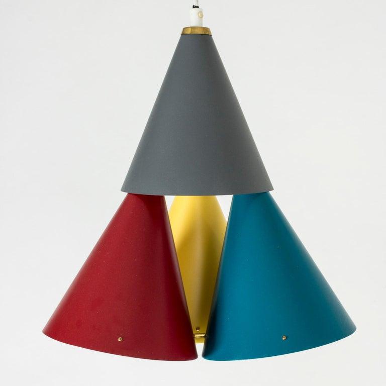 Scandinavian Modern Colorful Pendant Light by Svend Aage Holm Sørensen For Sale